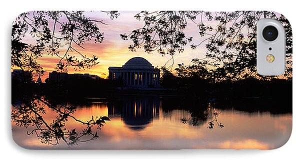Memorial At The Waterfront, Jefferson IPhone Case by Panoramic Images
