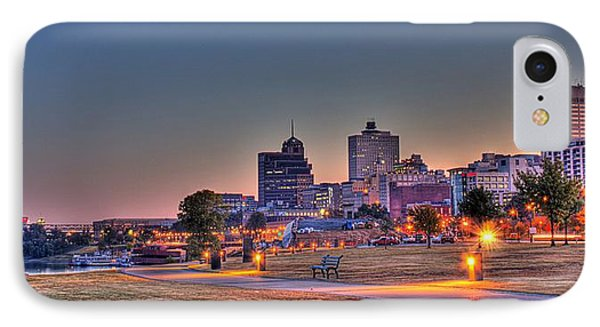 Cityscape - Skyline - Memphis At Dawn IPhone 7 Case by Barry Jones