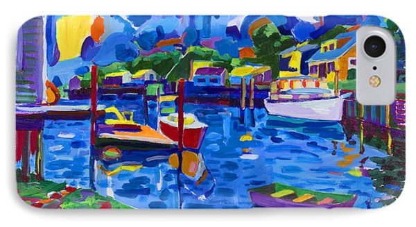 Menemsha Row Boat Phone Case by Michael Phelps Morse