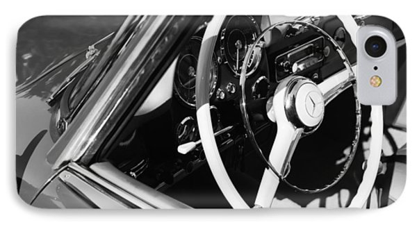 Mercedes-benz 190sl Steering Wheel IPhone Case by Jill Reger