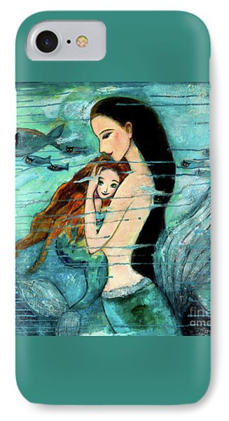 Mermaid Mother And Child IPhone 7 Case by Shijun Munns