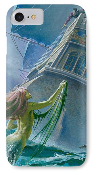 Mermaid Seen By One Of Henry Hudson's Crew IPhone Case by Severino Baraldi