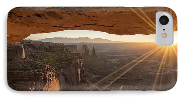 Mesa Arch Sunrise 4 - Canyonlands National Park - Moab Utah IPhone Case by Brian Harig