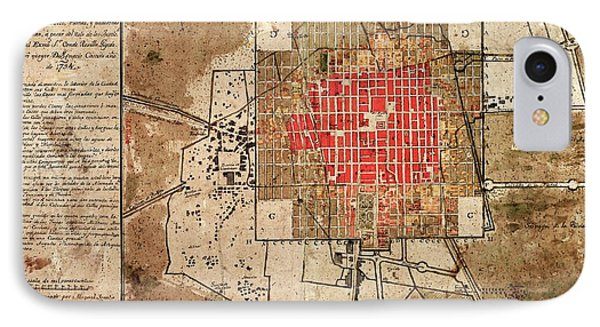 Mexico City Urban Development IPhone Case by Library Of Congress