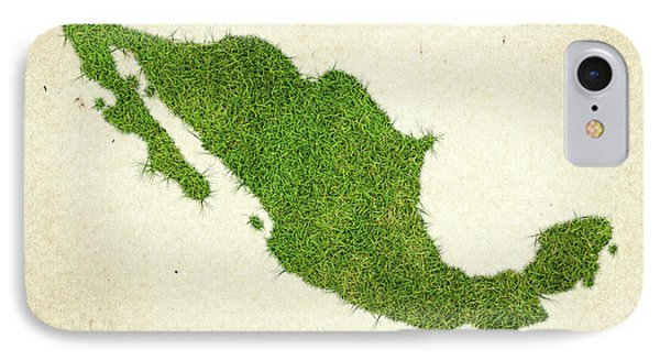 Mexico Grass Map IPhone Case by Aged Pixel