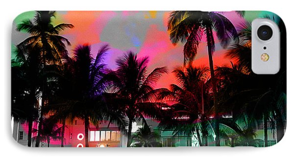 Miami Beach IPhone Case by Marvin Blaine