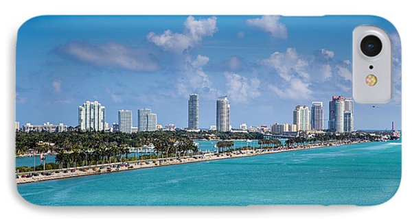 Miami Beach Skyline Phone Case by Rene Triay Photography