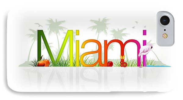 Miami- Florida IPhone Case by Aged Pixel