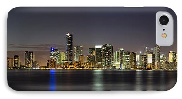 Miami Skyline IPhone Case by Andres Leon
