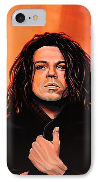 Michael Hutchence Painting IPhone Case by Paul Meijering