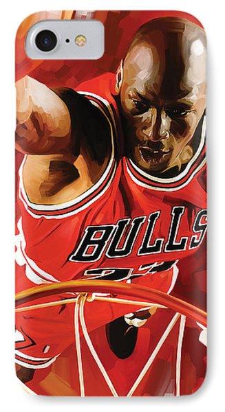 Michael Jordan Artwork 3 Phone Case by Sheraz A