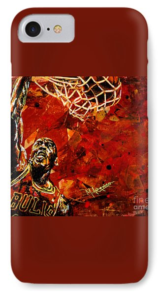 Michael Jordan IPhone 7 Case by Maria Arango