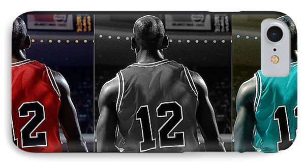 Michael Jordan IPhone Case by Marvin Blaine