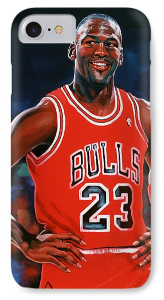 Michael Jordan IPhone 7 Case by Paul Meijering