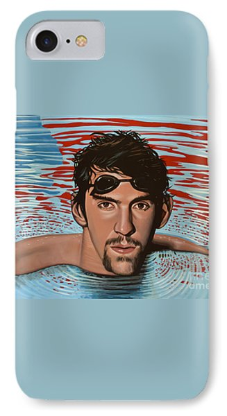 Michael Phelps Phone Case by Paul Meijering