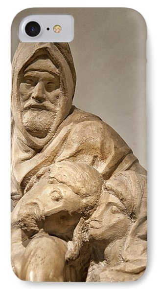 Michelangelo's Final Pieta Phone Case by Melany Sarafis