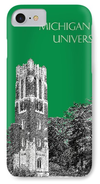 Michigan State University - Forest Green IPhone 7 Case by DB Artist