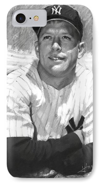 Mickey Mantle IPhone Case by Viola El