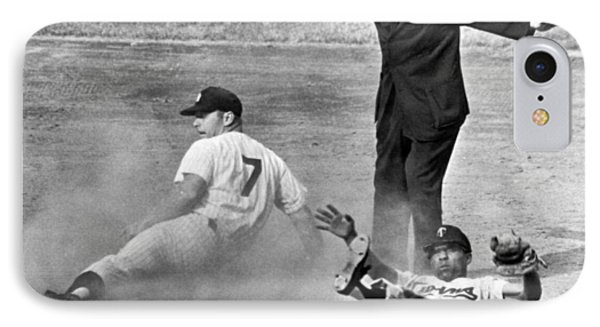 Mickey Mantle Steals Second IPhone Case by Underwood Archives