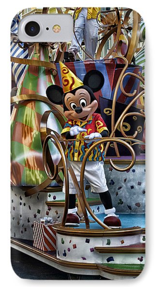 Mickey Mouse On His Celebrate It Float Phone Case by Thomas Woolworth