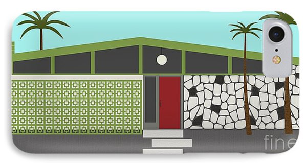 Mid Century Modern House 4 IPhone Case by Donna Mibus