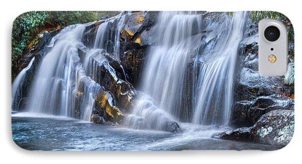 Middle Falls At Snowbird Creek IPhone Case by Debra and Dave Vanderlaan