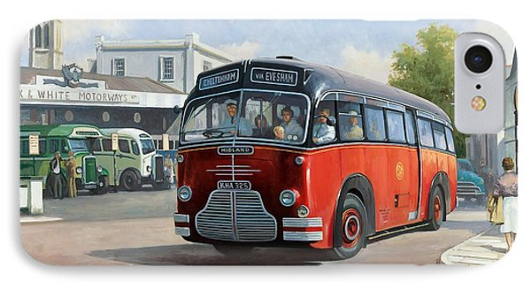 Midland Red C1 Coach. IPhone Case by Mike  Jeffries