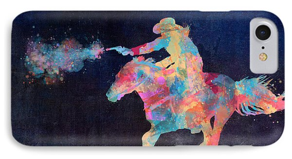 Midnight Cowgirls Ride Heaven Help The Fool Who Did Her Wrong IPhone Case by Nikki Marie Smith