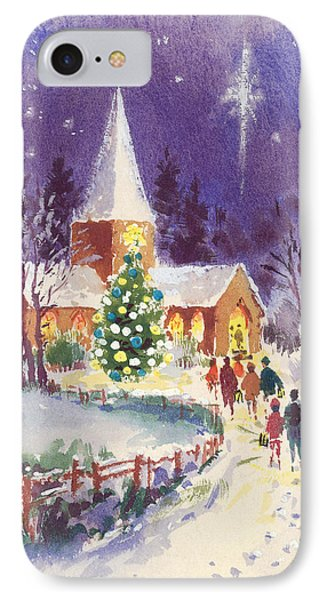 Midnight Mass Gouache IPhone Case by Stanley Cooke