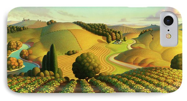 Midwest Vineyard IPhone Case by Robin Moline
