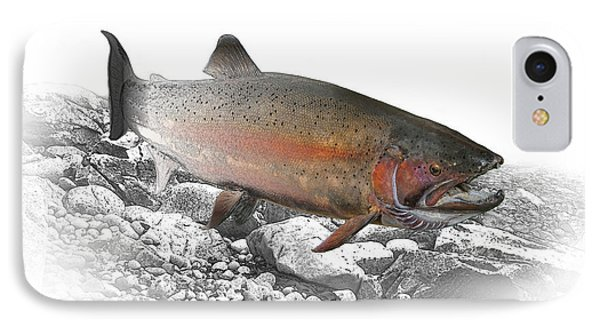 Migrating Steelhead Rainbow Trout IPhone Case by Randall Nyhof