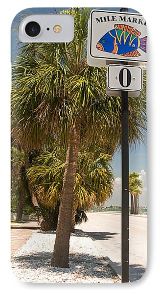 Mile Marker Zero At Pass-a-grille, St IPhone Case by Panoramic Images