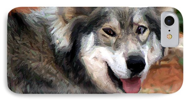 Husky With Blue And Brown Eyes - Impressionist Expression IPhone Case by Doc Braham
