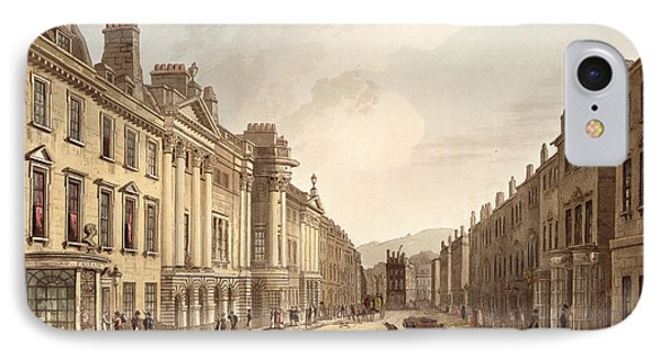 Milsom Street, From Bath Illustrated Phone Case by John Claude Nattes