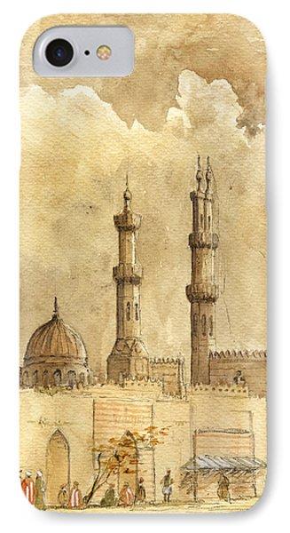 Minaret Of Al Azhar Mosque IPhone Case by Juan  Bosco