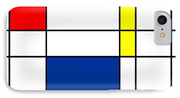 Minimalist Mondrian IPhone Case by Celestial Images