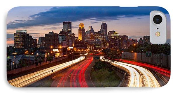 Minneapolis  M N Skyline IPhone Case by Steve Gadomski