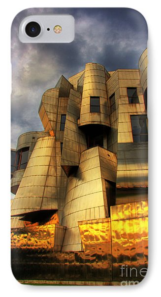 Minneapolis Skyline Photography Weisman Museum IPhone Case by Wayne Moran