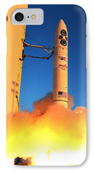 Minotaur Iv Rocket Launches Falconsat-5 IPhone Case by Science Source