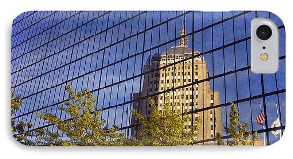 Mirrored Hancock - Boston IPhone Case by Joann Vitali