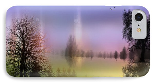 Mist Coloring Day 2 IPhone Case by Mark Ashkenazi