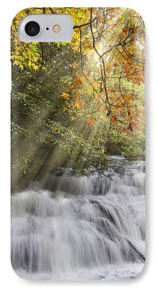 Misty Falls At Coker Creek Phone Case by Debra and Dave Vanderlaan