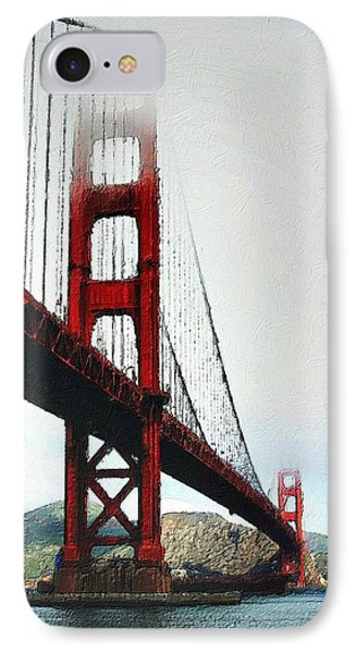Misty Golden Gate IPhone Case by Florian Rodarte