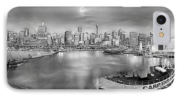 Misty Morning Harbour - Bw IPhone Case by Az Jackson