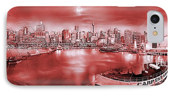 Misty Morning Harbour - Red IPhone Case by Az Jackson
