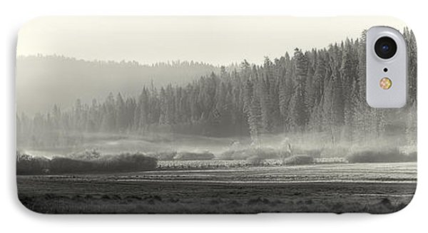 Misty Morning In Yosemite Sepia Phone Case by Jane Rix