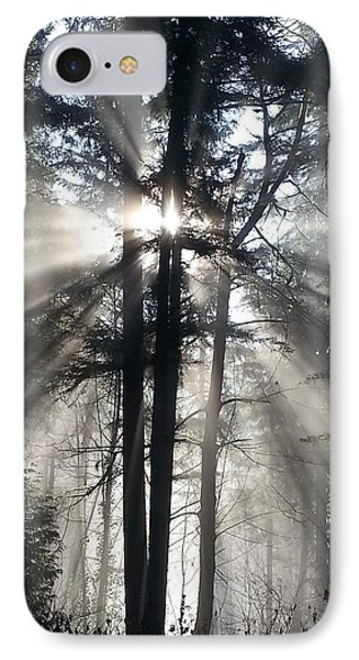 Misty Morning Sunrise Phone Case by Crista Forest