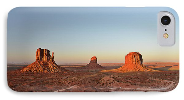 Mittens And Merrick Butte Monument Valley Phone Case by Christine Till