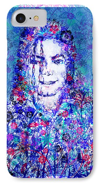 Mj Floral Version 2 IPhone Case by Bekim Art