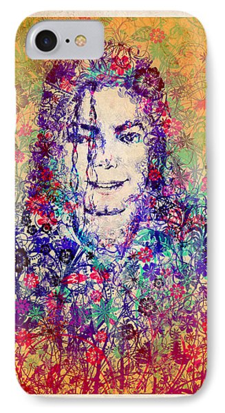Mj Floral Version 3 IPhone Case by Bekim Art
